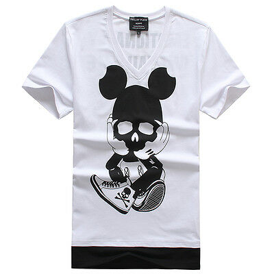 On the left are the Authentic Philipp Plein t-shirts and on the Right are fake Philipp Plein T-shirts