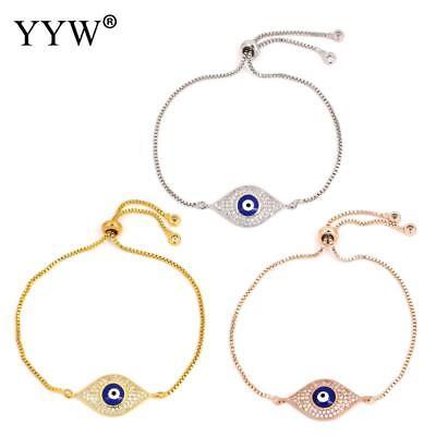Women's Fashion Jewelry Designer Rose Gold Silver Evil Eye Bracelet Turkish 61-6 Designer Evil Eye