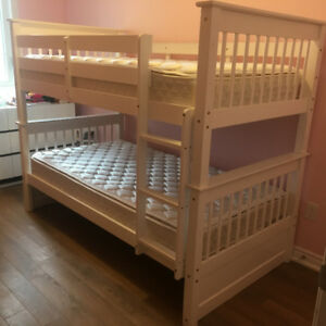 Kids Bunk Bed With Mattresses