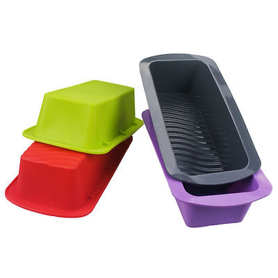 Silicone Rectangle Non Stick Bread Loaf Cake Mold  Bakeware Baking Pan Mould ZN