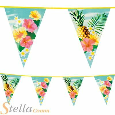6m Triangular Paradise Hawaiian Beach Party Lei Bunting Party Flag Decoration