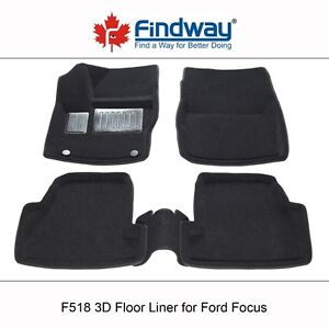 2012-2018 Ford Focus All weather 3D Car Floor Liners/Mats