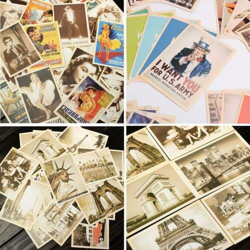 32X Travel Postcard Vintage Landscape Film Super Star Photo Picture Poster Art