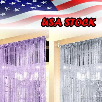 String Door Curtain Beads Divider Tassel Crystal Fringe Window Panel Hanging US - Hanging Beaded Door