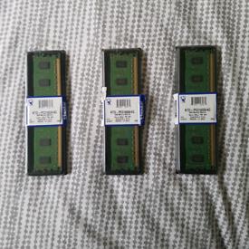 Kingston 4GB RAM server memory module DDR3 x3 £5 EACH