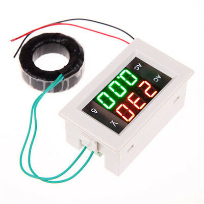 Ac 100-300v200a Digital Dual Volt Ampere Amp Dual Meter Voltmeter Lcd Guage
