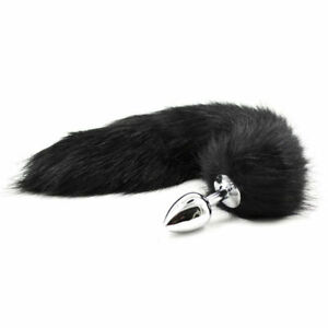 2693a71c4cf Fox Tail And Ears Anal-Butt Plug Romance Game Funny Toy CAT Cosplay Black
