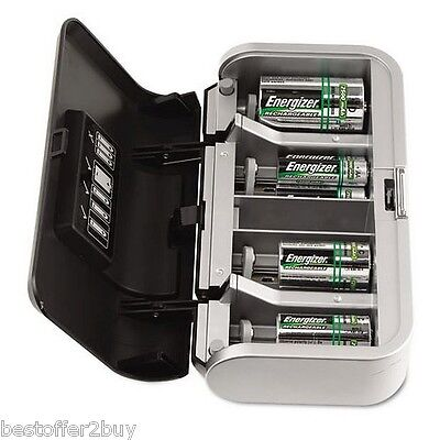 Energizer Premium Universal Charger Recharge AA/AAA/C/D/9V NiMH Charge Batterie