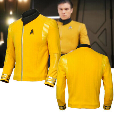 Season 2 Captain Pike Star Trek Discovery Starfleet Costume Uniform Coat W/Badge - Star Trek 2 Uniform
