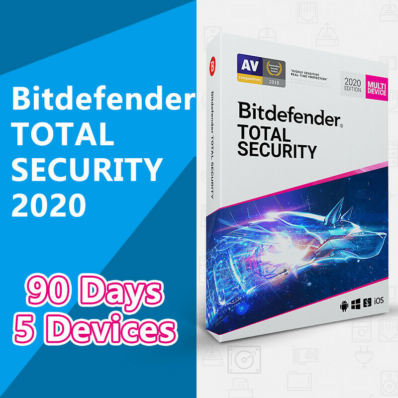 BitDefender Total Security 2020 GLOBAL License Key 5 Devices 3 Months (90 Days)
