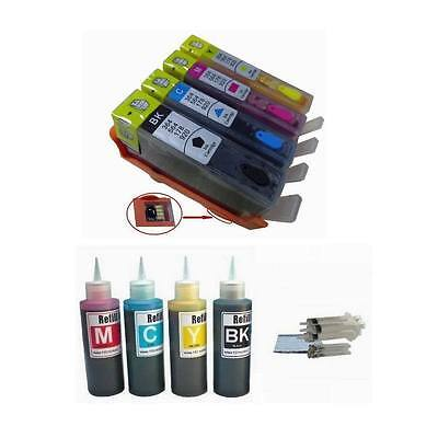 4comp Combo Set Refillable Ink Cartridge Kit Hp 920 For O...