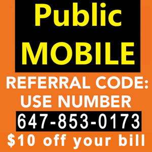$10 Public Mobile Referral - LIMITED TIME