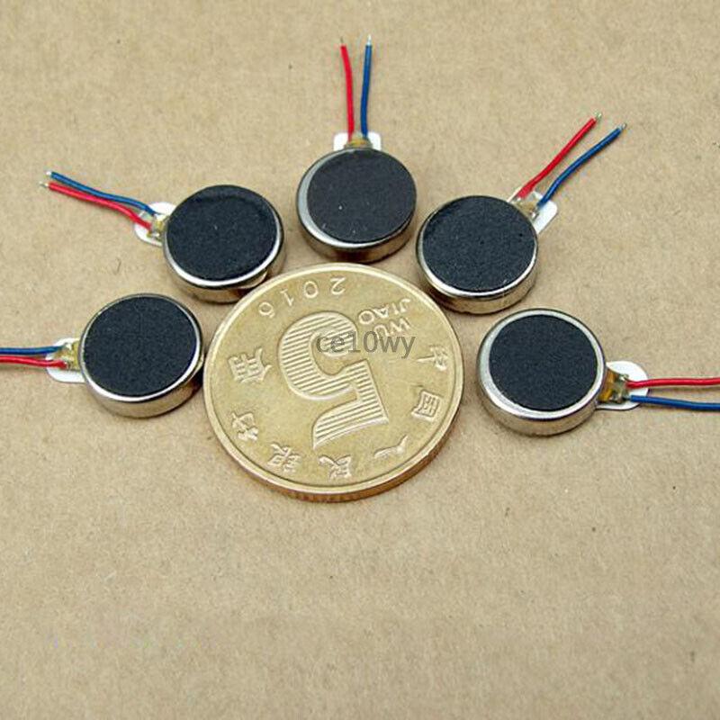 5x 1027 Vibration DC Motor 3V-5V Flat Vibrating Motor Vibrator for Cell Phone