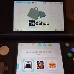 Nintendo 3DS with CFW, FreeShop (You can play games for free)