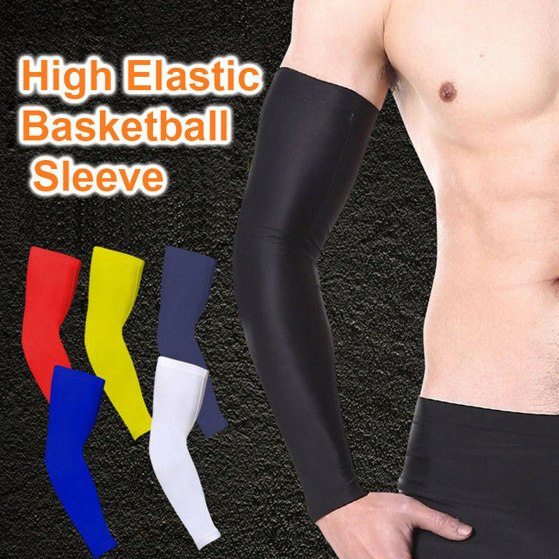 Youth/Men Arm Sleeves Basketball Sports Compression Elastic