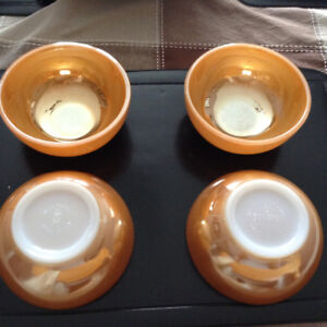 Anchor hocking fire-King peach lustre cereal bowls