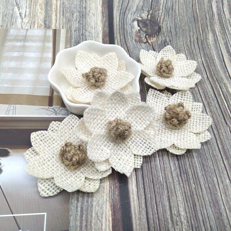 7cm Natural Jute Ribbon Fabric Hessian Rustic Weddings Crafts christmas florist