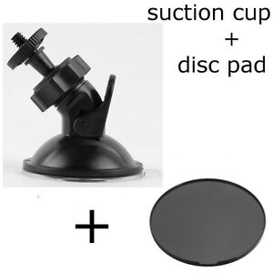 NEW Windshield Suction Cup Mount Holder for Cam + Dash Disc Pad
