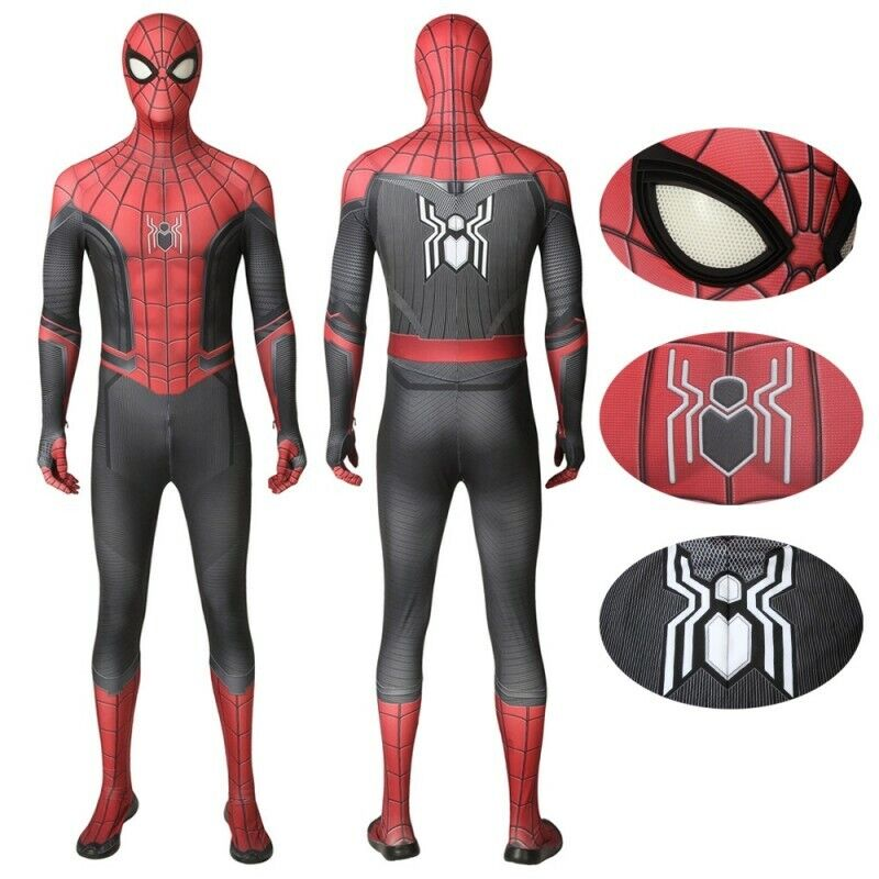 Spider Man Far From Home Peter Parker Spiderman Jumpsuits for Cosplay Costume Clothing, Shoes & Accessories