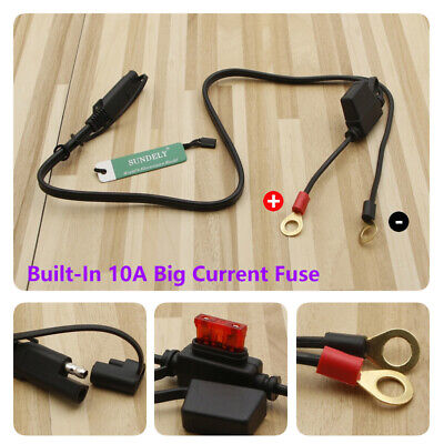 12V Terminal To SAE Quick Disconnect Cable Motorcycle Battery Output Connector