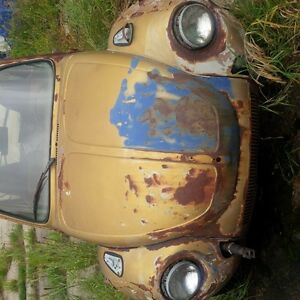 vw BEETLE parts car with transmission only