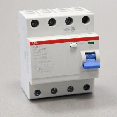 ABB F204A-40/0,03 FI-Schutzschalter 4P,Typ A,40A,30mA