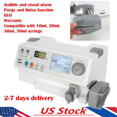 Medical Injection Syringe Pump Perfusor Injector Pump Kvo Alarm Injection System