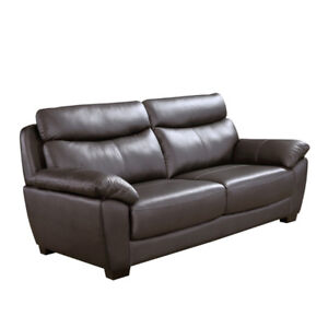 EVAN GENUINE LEATHER SOFA - $1299 NO TAX - FREE LOCAL DELIVERY