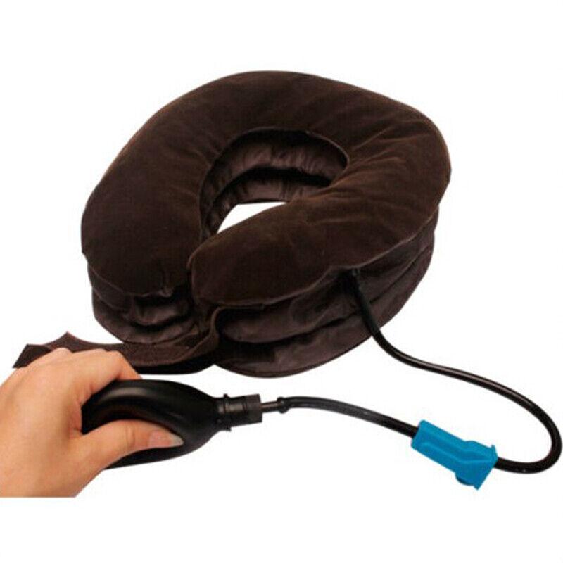 shoulder neck pain cervical traction brace device