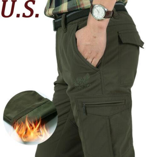 Tactical Work Cargo Pants Men Winter Thick Combat Cargo Outdoor Baggy Trousers
