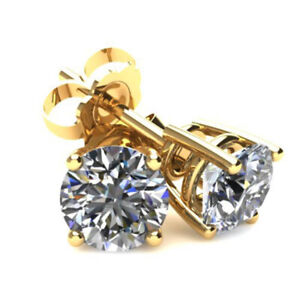 1.20 carat tw Diamond Stud Earrings in 14K Yellow Gold