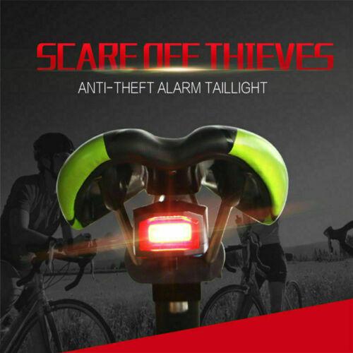Fahrradalarmanlage Alarmschloss Fahrrad Lampe Rücklicht Licht Fernbedienung DETD