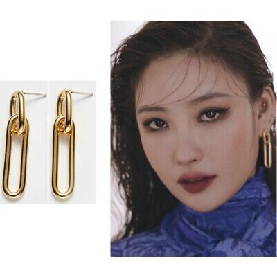 [Hei] Celine chain Earring with Case K-beauty Brass Gold Color
