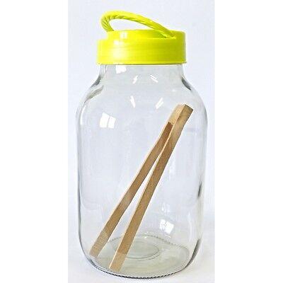 Einmachglas Einmachgläser Einweckglas Gurkenglas 2,65 L mit Holzzange ()