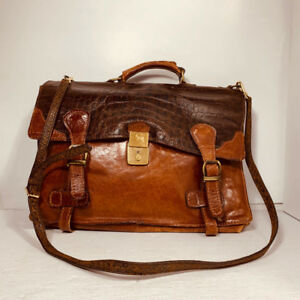 VERY NICE - leather briefcase - homme