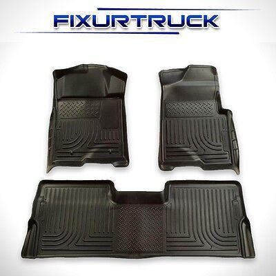 09-13 Ford F-150 Super Crew Cab FloorMats Black HuskyLiners WeatherBeater 98331