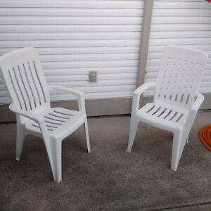 MOVING TO ONTARIO - Outdoor Resin Chairs - MUST SELL