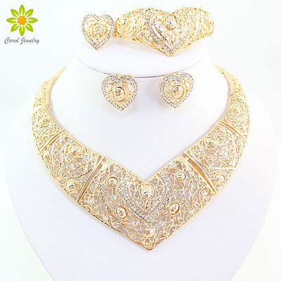 Fashion Women GP Necklace Set Dubai Bridal Wedding Party Jewelry Sets (Dubai Gifts)