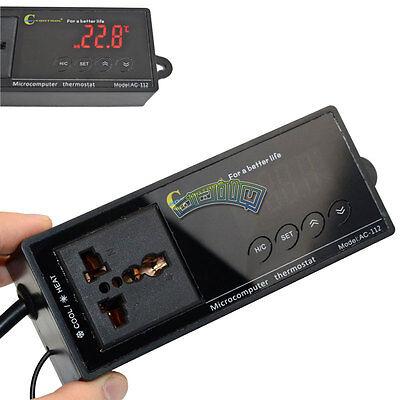 110v Led Thermostat Temperature Controller Plug Reptile Heat Incubator Aquarium