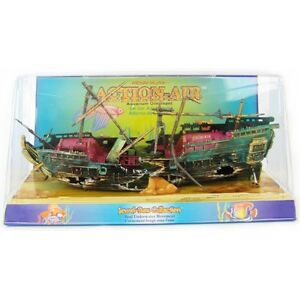 Aquarium decorations boat ebay for Aquarium decoration set