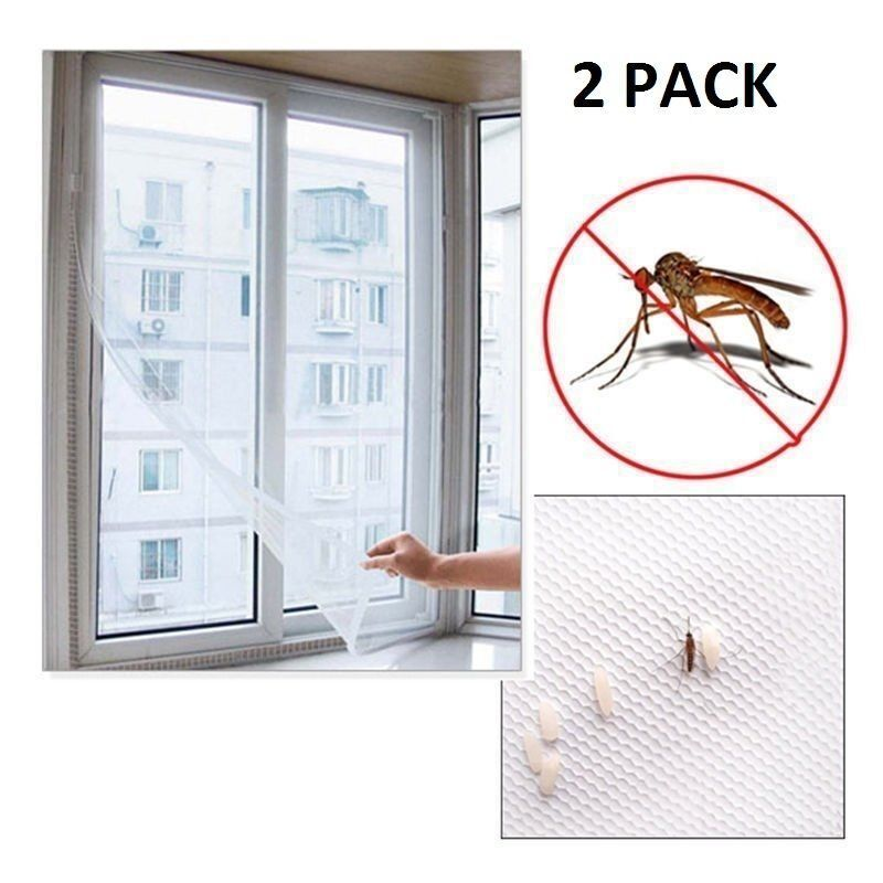Window White Mosquito Net Flying Insect Netting Mesh Self-adhesive Screen