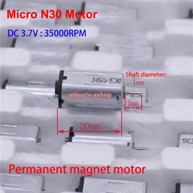 DC 3 V 5 V 6 V 7.2 V 30000 tr//min Haute Vitesse Magnétique Mini FK-280SB Motor moleté arbre