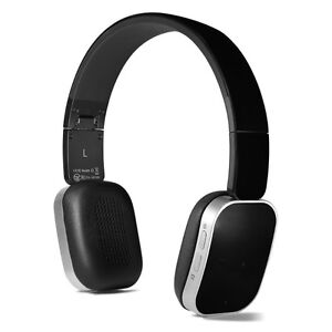 Wireless Bluetooth Foldable Headphones ~ Black & Silver NEW