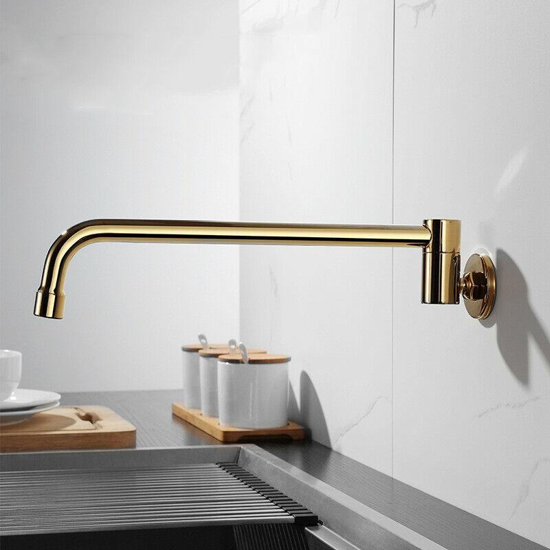 Details about Gold Pot Filler Kitchen Sink Faucet Wok Faucet Wall mounted  Faucet (300mm)
