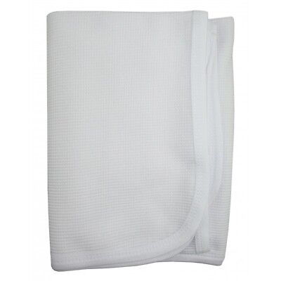 Baby 2 White 100% Cotton Thermal Receiving Blanket   Size 30 X 40  Comforting