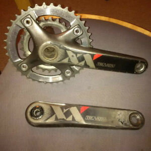 Sram XX carbon fibre crank, shifter and derailleur