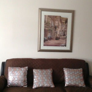 Very beautiful light gold framed painting