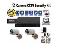 CCTV Security and Surveillance Camera Kit. DVR, cables. NEW