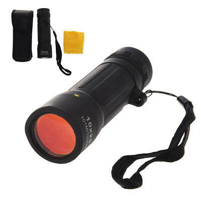 Mini Compact 10 x 25 mm Monocular Telescope Pocket Scope + Case for Bird Watcher