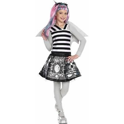 MONSTER HIGH Girls Medium 8 10 Rochelle Goyle Halloween Costume Dress Tights Win (Halloween Costume Wins)